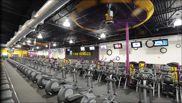 A Planet Fitness Cardio Area